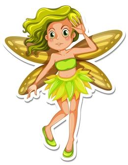 Beautiful fairy cartoon character sticker