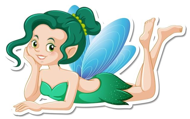 美しい妖精の漫画のキャラクターのステッカー