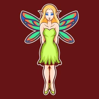 美しい妖精の女の子のイラスト