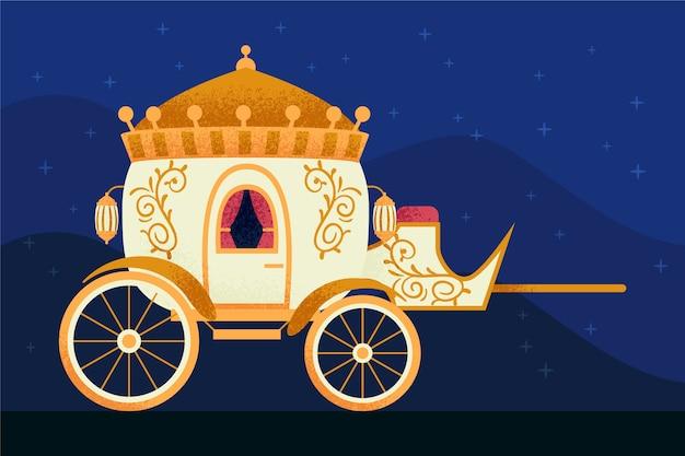 美しいおとぎ話のシンデレラの馬車
