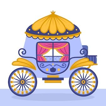 Красивая сказочная коляска золушка
