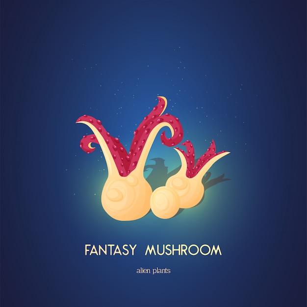 Beautiful fantasy mushroom. magic unusual nature elements