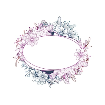 美しい女性の花の花屋のウェディングフレームの装飾