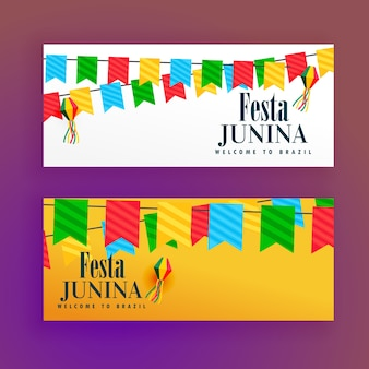 Beautiful festa junina banners