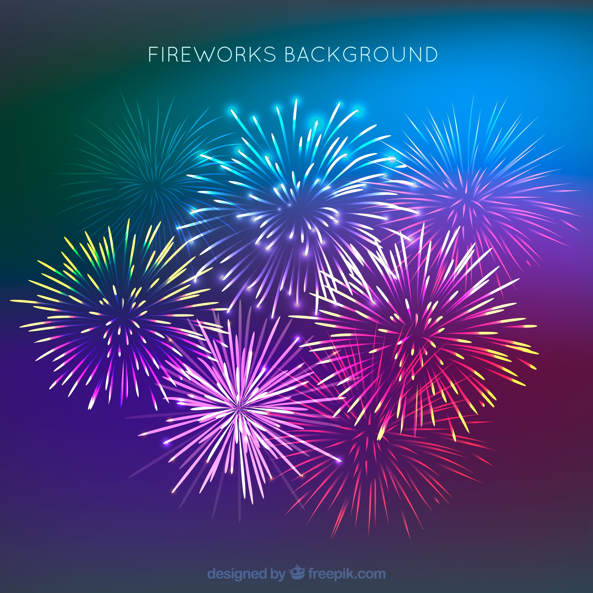 Beautiful fireworks background