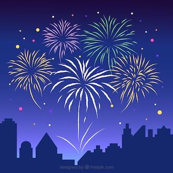 Beautiful fireworks background