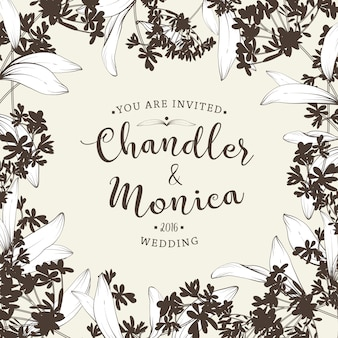 Beautiful floral background. element for design or invitation card