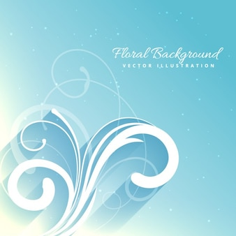 Beautiful floral background in blue color