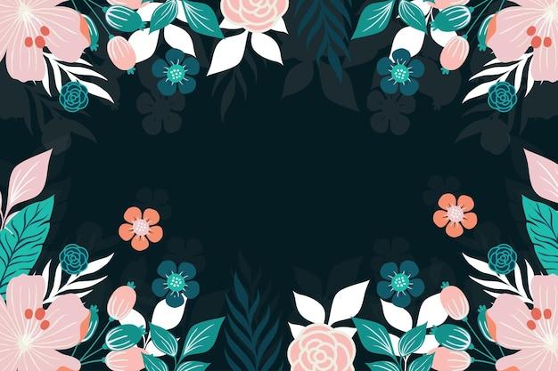 아름 다운 꽃 배경 템플릿