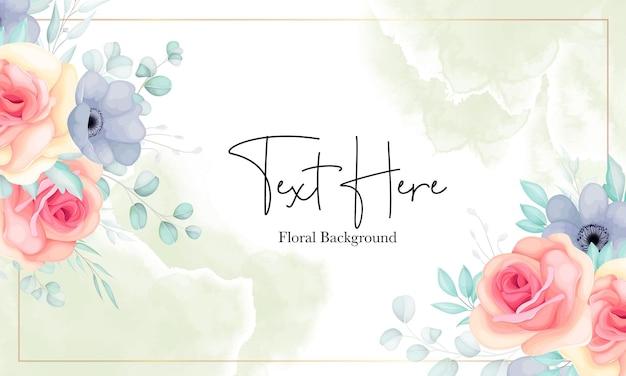 아름다운 꽃 배경 템플릿