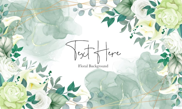 Beautiful floral background white lily and rose