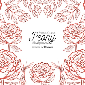 Beautiful floral background with peony concept