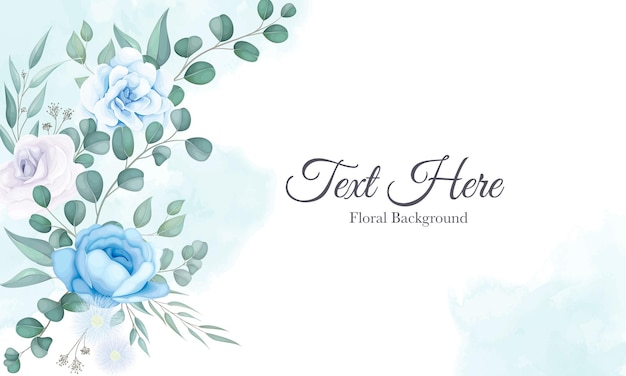 Beautiful floral background with soft floral ornament
