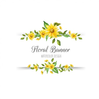 Beautiful floral banner