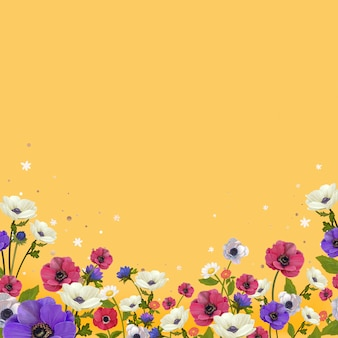 Beautiful floral border design vector