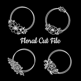 Beautiful floral cut file elements