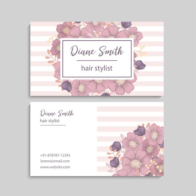 Beautiful floral design business card