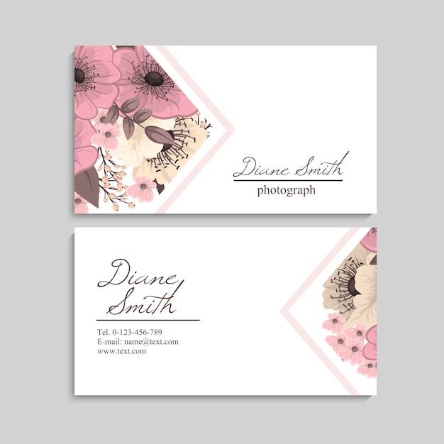 Beautiful floral design business card