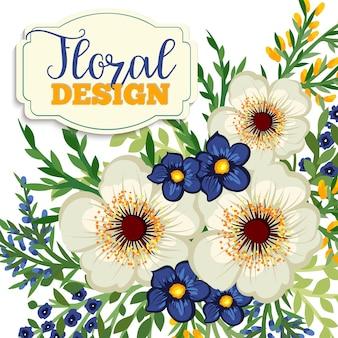Beautiful floral design.vector illustration