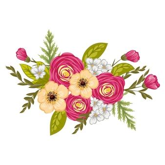 美しい花のデザイン。ベクトル図