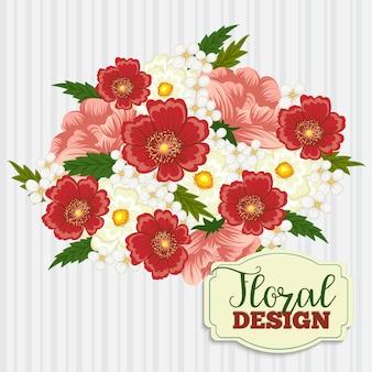 美しい花のデザイン