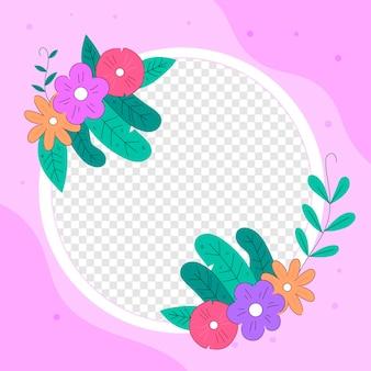 Bella cornice floreale di facebook