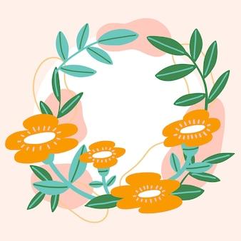 아름다운 꽃 페이스 북 프레임