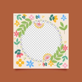 Красивая цветочная рамка facebook
