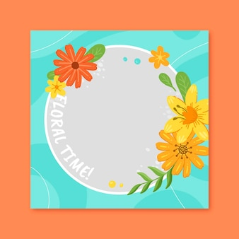 Beautiful floral facebook frame