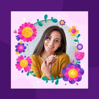 Beautiful floral facebook frame