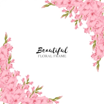 Beautiful floral frame background