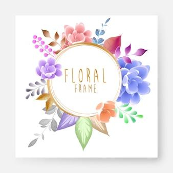 Beautiful floral frame design