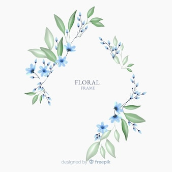 Beautiful floral frame design