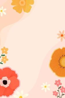 Bellissimo design della cornice floreale