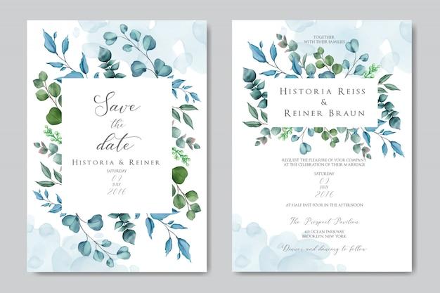 結婚式招待状の美しい花のフレーム