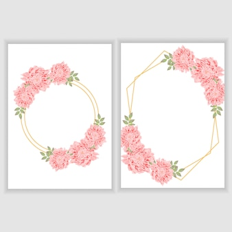 Beautiful floral frame for greeting card