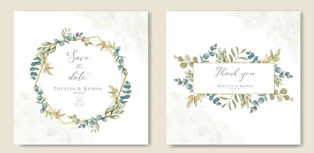 Beautiful floral frame for wedding invitation