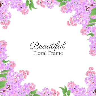 Beautiful floral frame with lilac