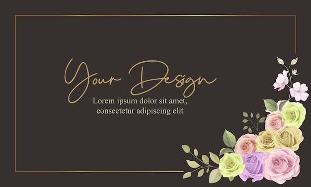 Красивая цветочная рамка с украшением из роз