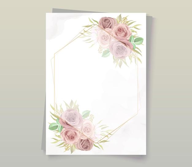 柔らかな色の美しい花柄フレーム
