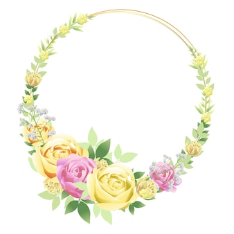 Beautiful floral frame