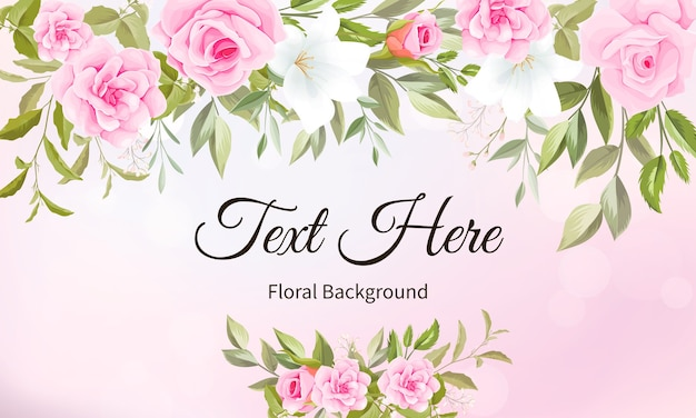 Beautiful floral hand drawing background