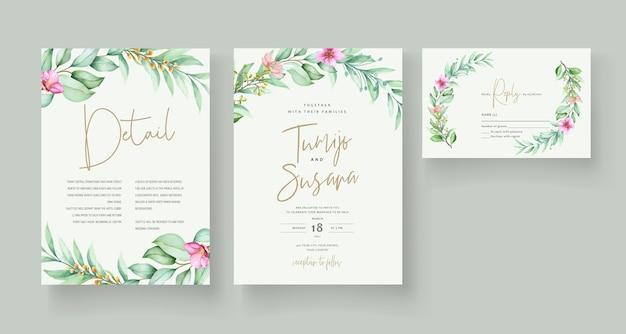 Beautiful floral invitation card template