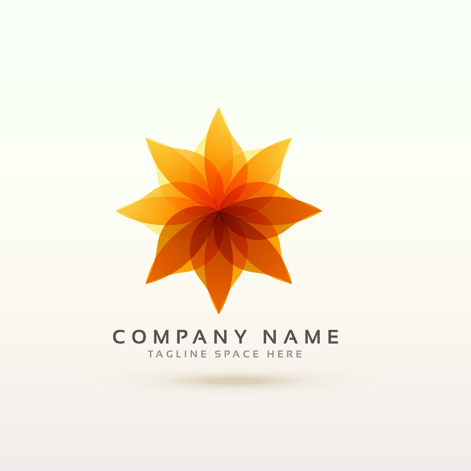 Beautiful floral logotype concept