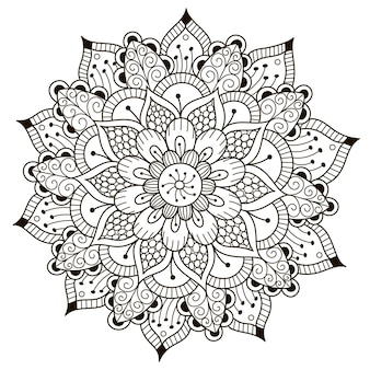 Beautiful floral mandala