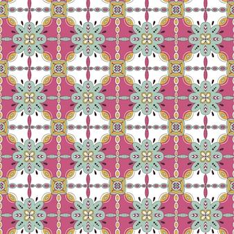 Красивая цветочная мозаика бесшовные модели