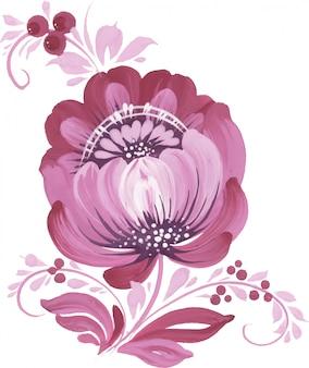 Красивый цветочный орнамент.