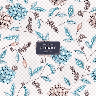 아름 다운 꽃 패턴 벡터 템플릿