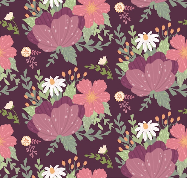 Beautiful floral pattern with a flower.  floral seamless background for fashion prints.