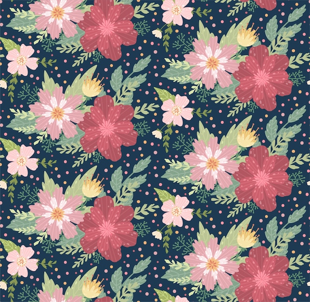 Beautiful floral pattern with a flower.  floral seamless background for fashion prints